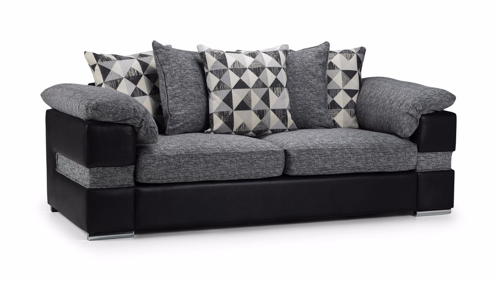 Serene 3 Seater Pillow Back Sofa 3 Seater Sofas- KC Sofas