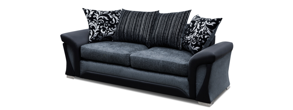 Shannon 3 Seater Pillow Back Sofa 3 Seater Sofas- KC Sofas