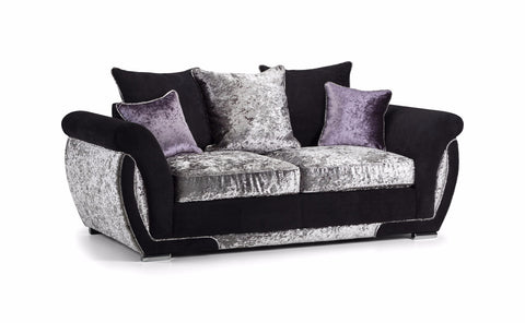 Shannon Glitz 2 Seater Pillow Back Sofa