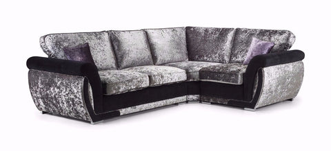 Shannon Glitz Right Hand Formal Back Corner Sofa