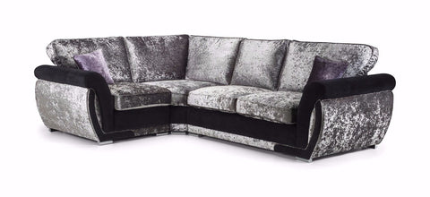 Shannon Glitz Left Hand Formal Back Corner Sofa