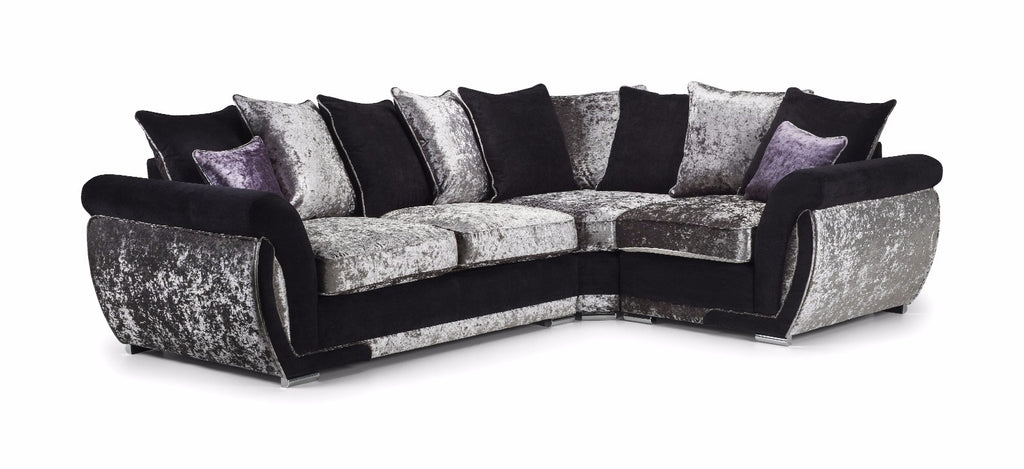 Shannon Glitz Right Hand Pillow Back Corner Sofa