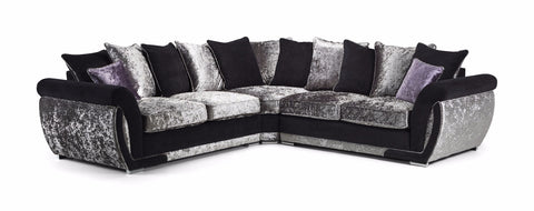 Shannon Glitz Large Pillow Back Corner Sofa