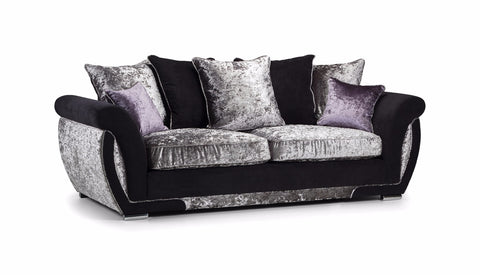 Shannon Glitz 3 Seater Pillow Back Sofa