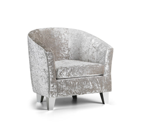 Crushed Velvet Tub Chair Chairs- KC Sofas