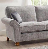 Vegas Large 1 Arm Left Hand Formal Back Corner Sofa With Footstool Corner Sofas- KC Sofas