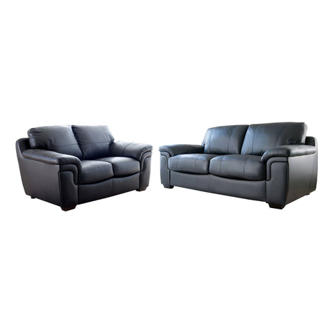Anne 3 Seater & 2 Seater Faux Leather Sofa Set Sofa Sets- KC Sofas