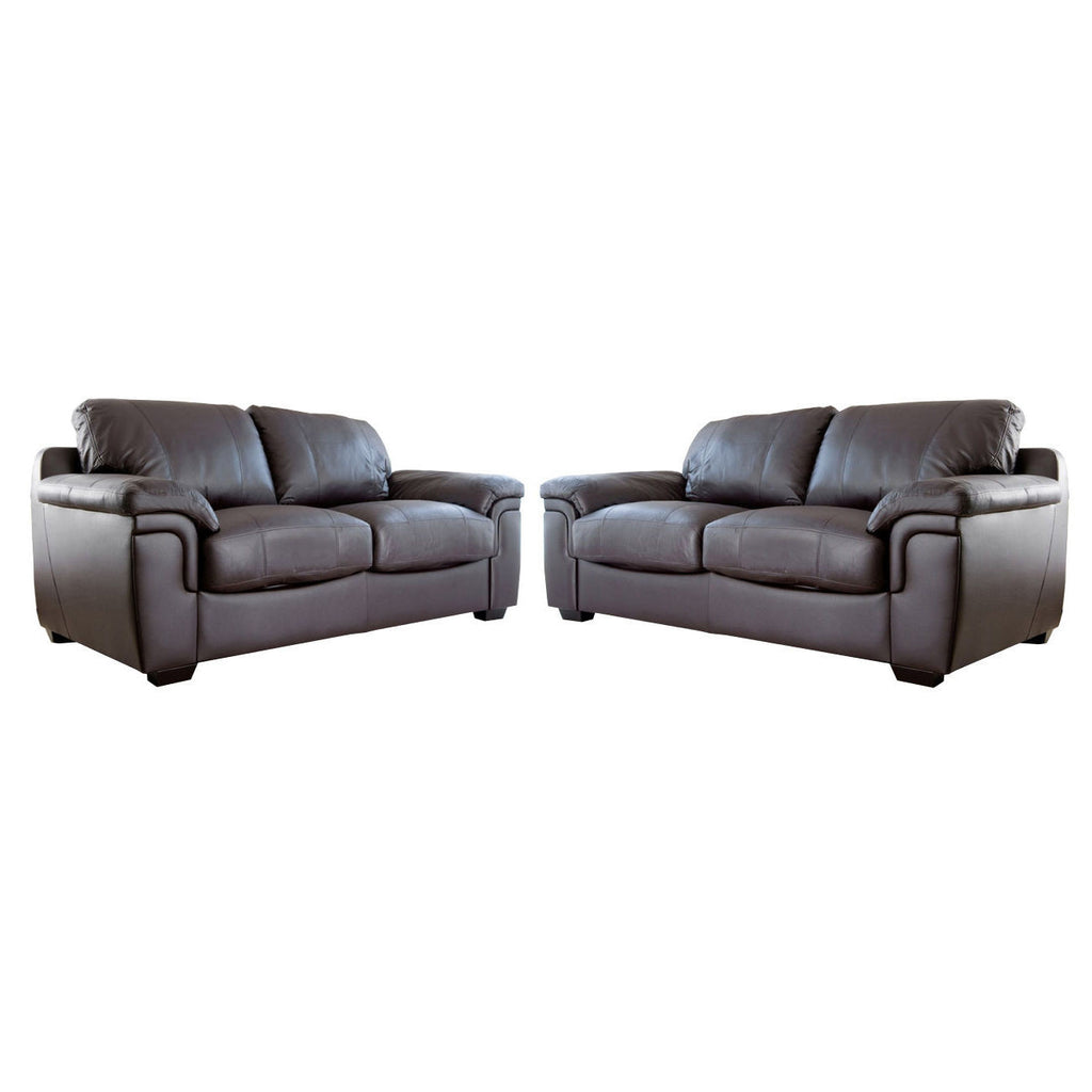 Anne 3 seater 2 seater leather sofa set kc sofas for 2 seater leather sofa
