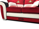 Doncaster Rovers Limited Edition 2 Seater Formal Back Sofa 2 Seater Sofas- KC Sofas