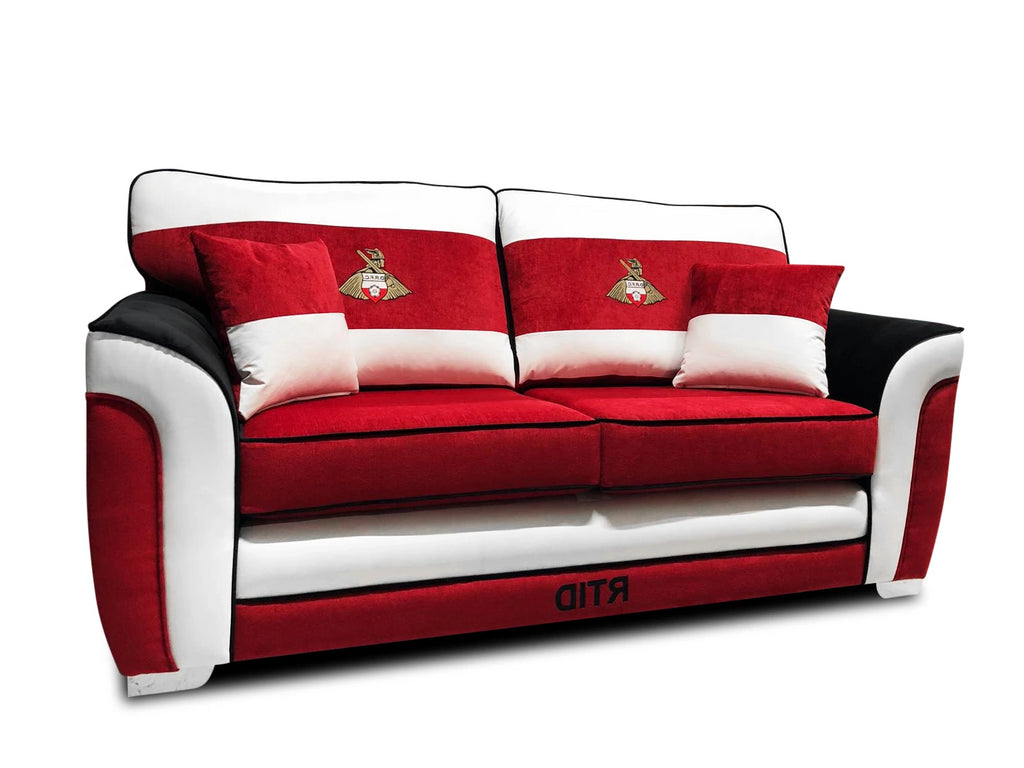 Doncaster Rovers Limited Edition 3 Seater Formal Back Sofa Bed Sofa Beds- KC Sofas
