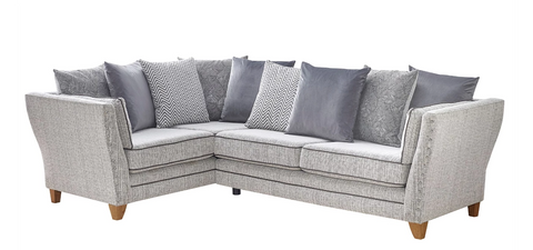 Athena Left Hand Pillow Back Corner Sofa Corner Sofas- KC Sofas