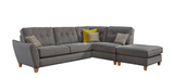 Ashleigh Small 1 Arm (Including Footstool) Right Hand Chaise Formal Back Corner Sofa Corner Sofas- KC Sofas