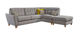 Ashleigh Large 1 Arm (Including Footstool) Right Hand Chaise Formal Back Corner Sofa Corner Sofas- KC Sofas