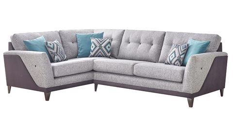 Daytona Left Hand Formal Back Corner Sofa Corner Sofas- KC Sofas