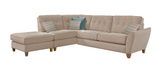 Ashleigh Small 1 Arm (Including Footstool) Left Hand Chaise Formal Back Corner Sofa Corner Sofas- KC Sofas