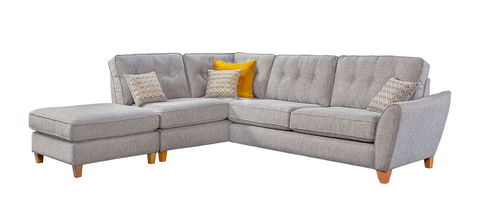 Ashleigh Large 1 Arm (Including Footstool) Left Hand Chaise Formal Back Corner Sofa Corner Sofas- KC Sofas