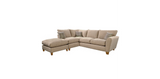 Lucy 1 Arm (Including Footstool) Left Hand Chaise Formal Back Corner Sofa Corner Sofas- KC Sofas