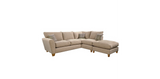 Lucy 1 Arm (Including Footstool) Right Hand Chaise Formal Back Corner Sofa Corner Sofas- KC Sofas