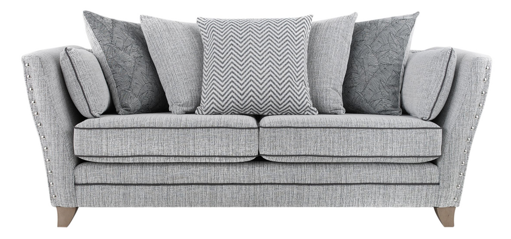 Athena 3 Seater Pillow Back Sofa 3 Seater Sofas- KC Sofas