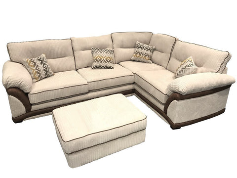 Erika Right Hand Formal Back Corner Sofa Corner Sofas- KC Sofas