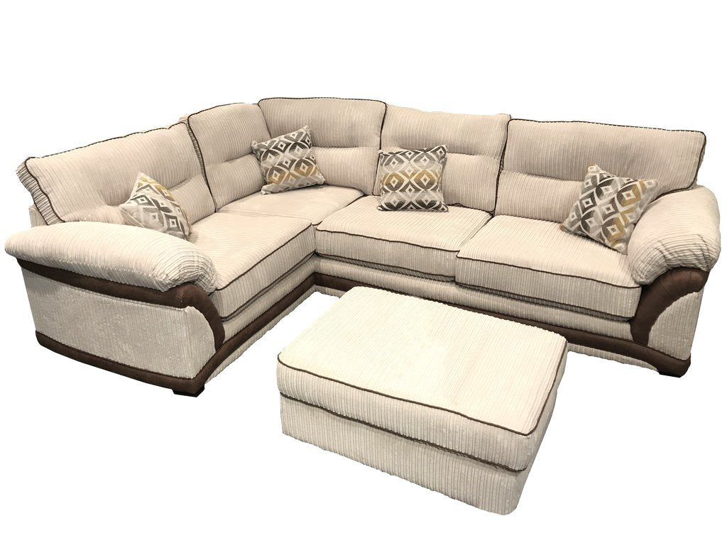 Erika Left Hand Formal Back Corner Sofa Corner Sofas- KC Sofas