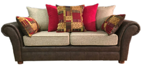 Perez 3 seater 2 seater pillow back sofa set kc sofas for Perez 4 seater pillow back sectional sofa