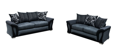 Shannon 3 Seater & 2 Seater Pillow Back Sofa Set Sofa Sets- KC Sofas