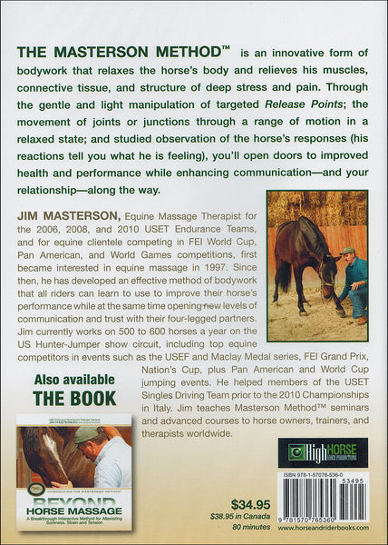 Beyond Horse Massage - DVD - BooksOnHorses  - 2