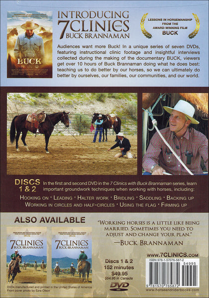 7 Clinics with Buck Brannaman: 1-2 Groundwork - BooksOnHorses