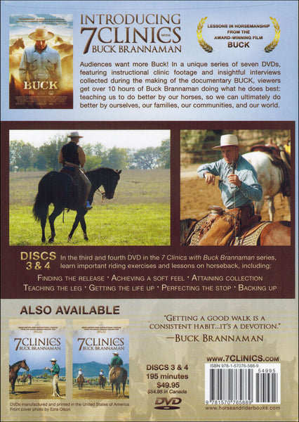 7 Clinics with Buck Brannaman: 3-4 Lessons On Horseback - DVD - BooksOnHorses  - 2