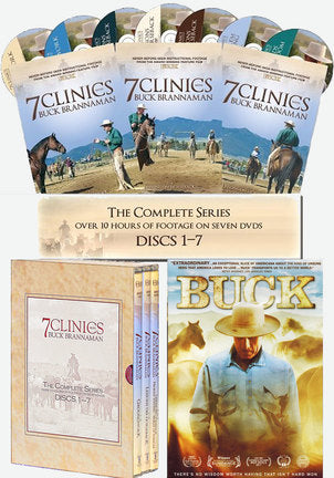 "Buck Brannaman 7 Clinics Complete Set Vols 1-7 + Movie ""Buck"""