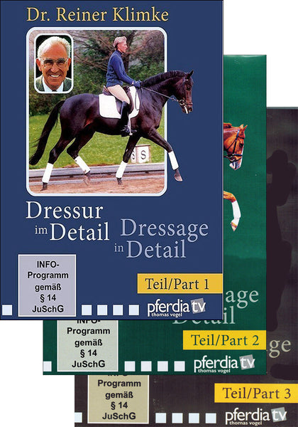 Dressage in Detail Combo Vols 1, 2 & 3 - DVD - BooksOnHorses  - 1