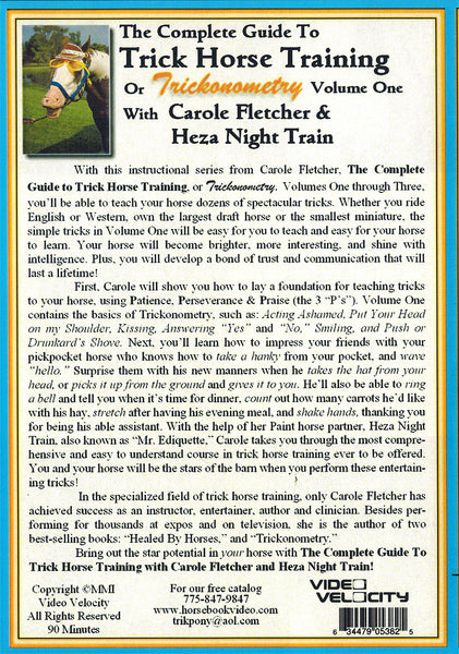 The Complete Guide to Trick Horse Training  DVD Vol 1