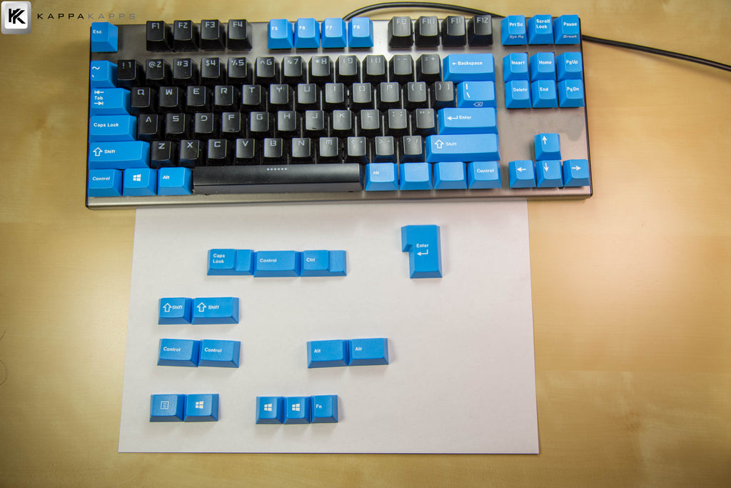 Authentic Cherry Modifier Set - Blue(TKL Kit, Double-Shot)