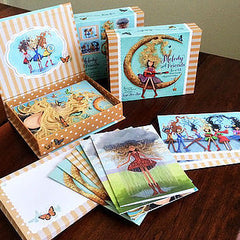 Moon Bound Girl Note Card Set
