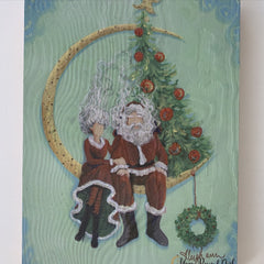 Mr. and Mrs Clause - Wood Print