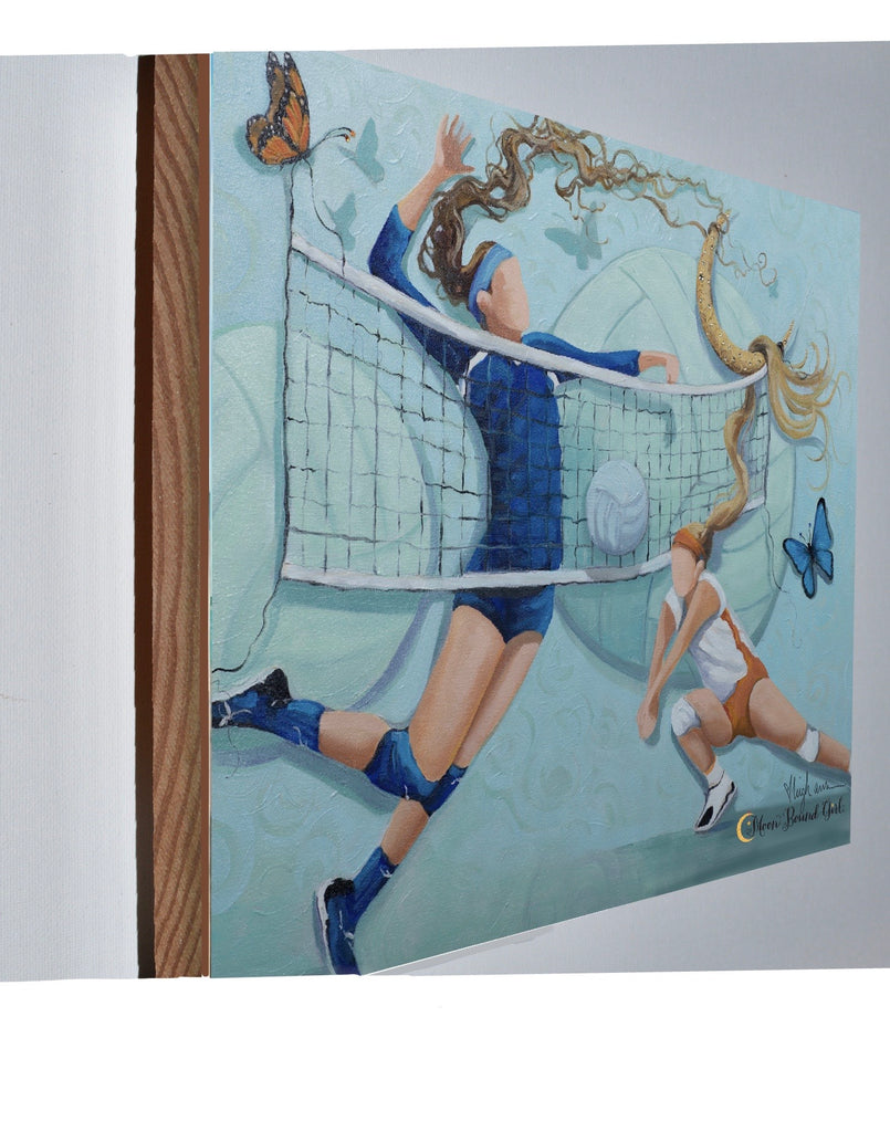 Volleyball - Wood Print