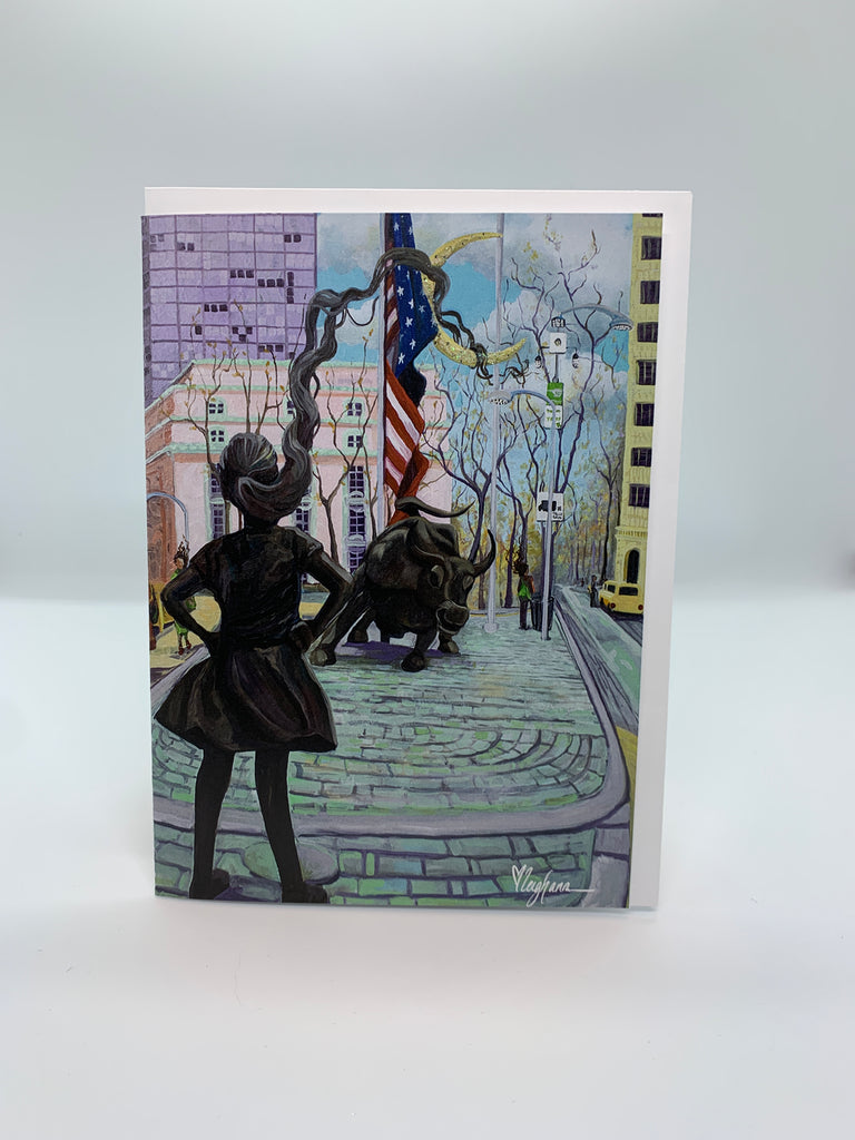 Fearless Girl - Note Card