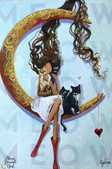 Meow Meow - Moon Bound Girl Poster