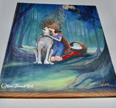 Little Red Riding Hood - Wood Print