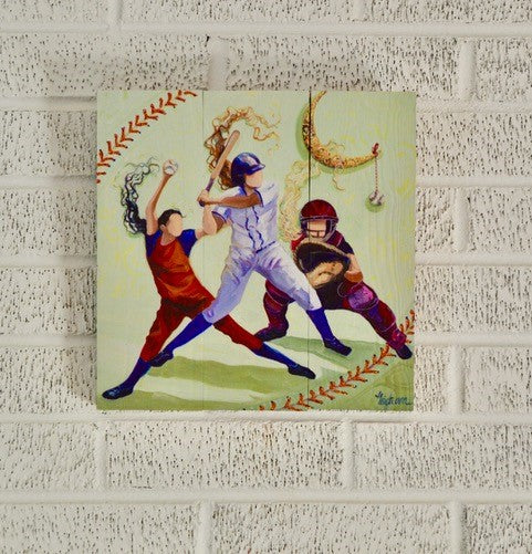 Softball - Wood Print