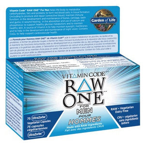 Garden of Life Vitamin Code RAW ONE for Men 75 Caps
