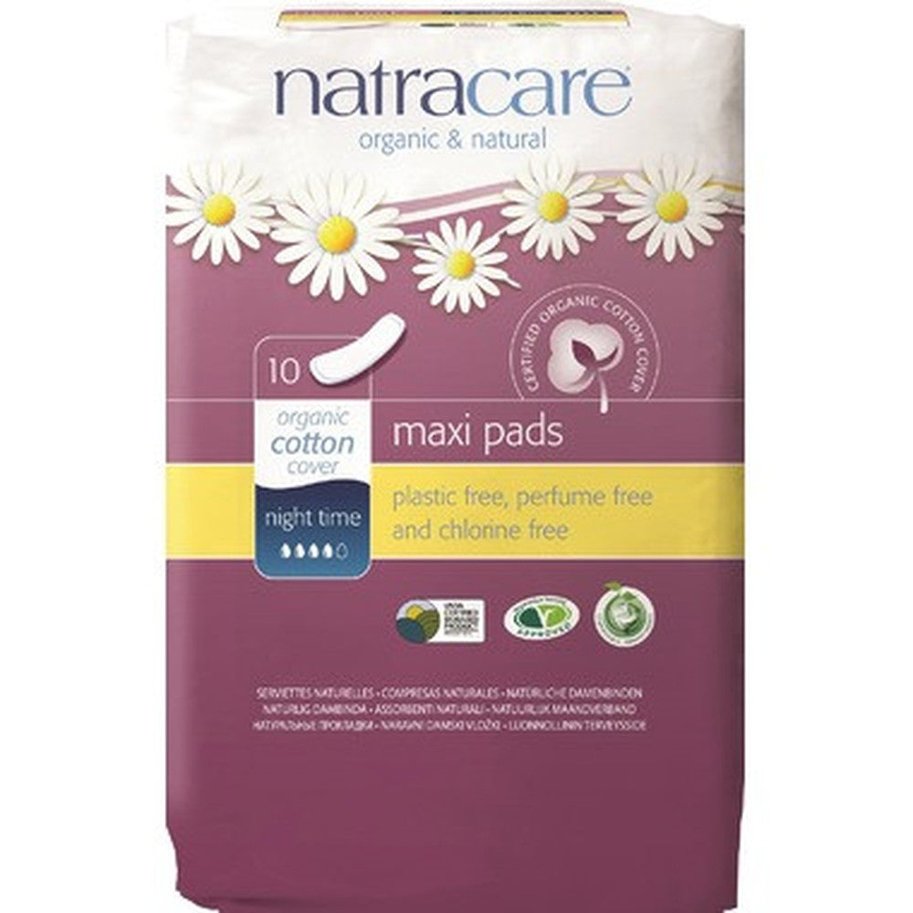 Natracare Maxi  X-Long 10 PADS