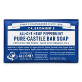 Dr. Bronner's Pure Castile Bar Peppermint Soap 140G