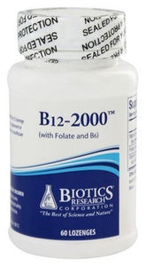 Biotics Research B12-2000 Lozenges 60 Lozenges