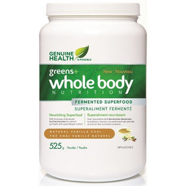 Genuine Health Greens+ Whole Body Nutrition Vanilla Chai 525g