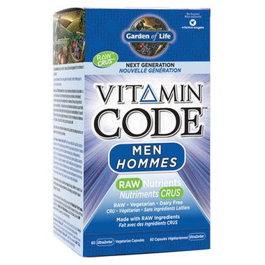 Garden of Life Vitamin Code Men RAW Nutrients 60 Caps
