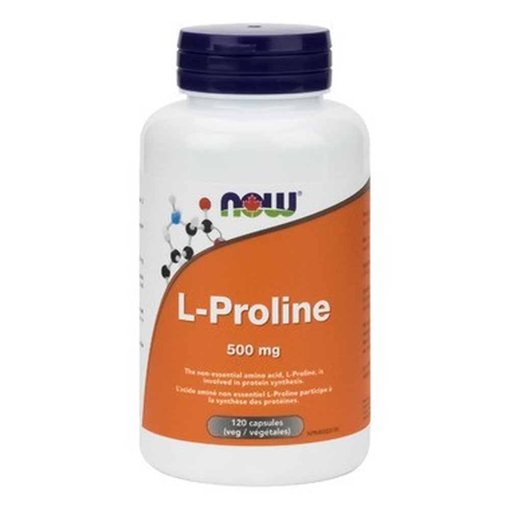 Now Foods, L-Proline, 500MG 120 Caps