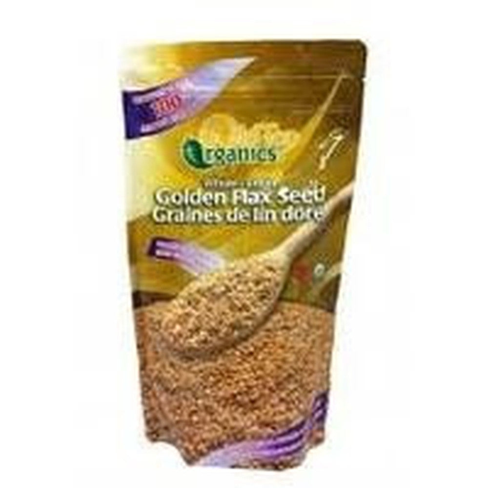 Gold Top Whole Golden Flax Organic Seeds 454G