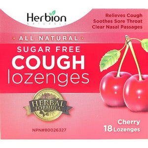 Herbion Cough Lozenges in Sugar Free Cherry  18 Lozenges